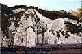 TR3644 : White cliffs in St Margaret's Bay by Steve Daniels
