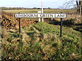 TL1015 : Kinsbourne Green Lane sign by Adrian Cable