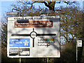 TL0918 : Kidney Wood Roundabout Roadsign by Adrian Cable