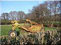 SO4200 : Disused earthmoving equipment at Llangwm, Monmouthshire by Jeremy Bolwell