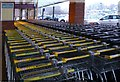 SJ9291 : Supermarket trolleys by Gerald England