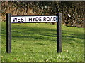 TL1016 : West Hyde Road sign by Adrian Cable