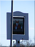 TL1116 : The Fox Public House sign, Kinsbourne Green by Adrian Cable