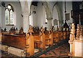 TL7705 : St John the Baptist, Danbury - Pews by John Salmon
