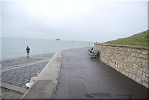 SZ6497 : Solent Way passing East Battery by N Chadwick