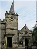 TQ5130 : All Saints Church, Church Road, TN6 - tower, spire and entrance by Mike Quinn