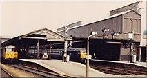 SX9193 : Exeter St. Davids railway station, Devon, 1981 by Nigel Thompson