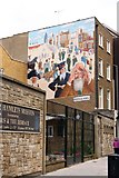 TQ3581 : Mural on the Tower Hamlets Mission by Steve Daniels