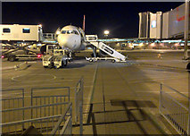 TL5523 : Night scene, airside at Stansted Airport by Thomas Nugent