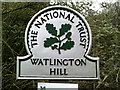 SU6993 : National Trust sign for Watlington Hill by Peter S