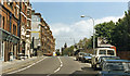 TQ2577 : Fulham Road at site of Chelsea & Fulham station, 1986 by Ben Brooksbank