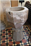 SK9485 : Font, St Andrew's church, Fillingham by J.Hannan-Briggs