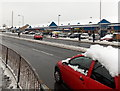 ST3090 : Deep snow on the roof of a passing car, Malpas, Newport by Jaggery