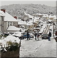 ST3090 : Clearing the snow from Graig Park Avenue, Newport by Jaggery