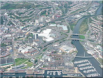 SS6593 : Swansea City Centre and Parc Tawe by J WILLIAMS