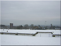 TQ3370 : Panorama from the terrace at Crystal Palace Park (1) by Christopher Hilton