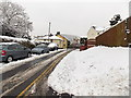 ST3090 : A snowy bank and partly cleared road, Pillmawr Road, Malpas, Newport by Jaggery