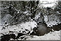 SP7232 : Stream flowing under the road to join Padbury Brook by Philip Jeffrey