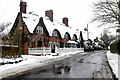 SP7330 : Snowy cottages on Main Street by Philip Jeffrey