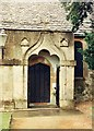 SO9114 : St Mary, Great Witcombe - Porch by John Salmon