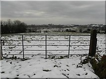 H5672 : Gate and snow, Mullaslin by Kenneth  Allen