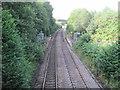 ST1599 : Gilfach Fargoed railway station, Gwent by Nigel Thompson