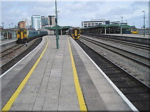 ST1875 : Cardiff Central railway station by Nigel Thompson