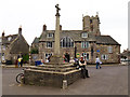 SY9682 : Market cross in the square, Corfe Castle by Phil Champion