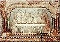 SO7119 : St John, Huntley - Reredos detail by John Salmon