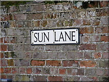 TL1314 : Sun Lane sign by Adrian Cable