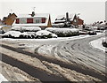 ST3090 : Snowy corner of Larch Grove and Birchgrove Close, Malpas, Newport by Jaggery