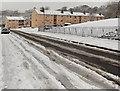 ST2991 : Snowy Bessemer Close and Graham Bell Close, Malpas, Newport by Jaggery