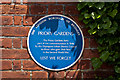 TQ4666 : Plaque, Priory Gardens gates by Ian Capper