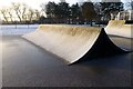 SK4833 : Icy snow covers a skateboard ramp by David Lally