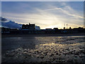 SZ0378 : Low tide on the beach at Swanage by Phil Champion