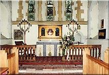 SU5846 : All Saints, Dummer - Sanctuary by John Salmon
