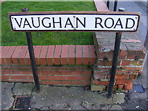 TL1314 : Vaughan Road sign by Adrian Cable