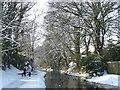 ST2788 : Walkers alongside the canal by Robin Drayton