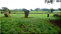 SK2262 : Partial Stone circle by Nigel Mykura