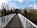 ST3089 : Across the southernmost Malpas Road footbridge, Crindau, Newport by Jaggery