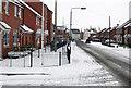 SK7080 : Thrumpton Lane in the snow by roger geach