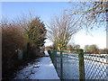 TA0429 : A path leading towards Wolferton Road, Anlaby by Ian S