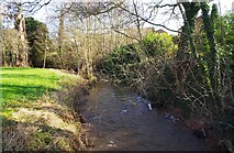 SO8475 : Hoo Brook, looking east, Kidderminster by P L Chadwick