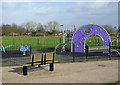 SO9196 : Playground in Phoenix Park, Blakenhall, Wolverhampton by Roger  Kidd