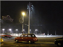 SD3035 : Blackpool: sleet and taxis on the Promenade by Chris Downer