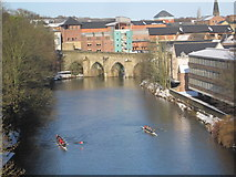 NZ2742 : River Wear and Old Elvet Bridge, Durham by Les Hull