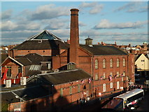 SO8455 : A chimney in Worcester by Chris Allen