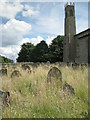 TG0343 : St Nicholas churchyard and northeast tower by Robin Stott