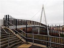 ST1167 : Eastern side of Thompson Street footbridge, Barry by Jaggery