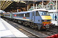 TQ3381 : Locomotive in Diamond Jubilee livery in Liverpool Street Station by Roger Templeman